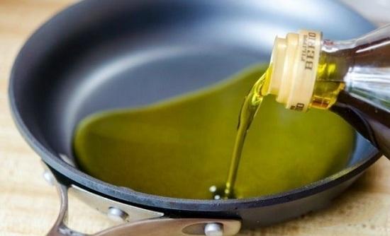 прогреем масло оливы