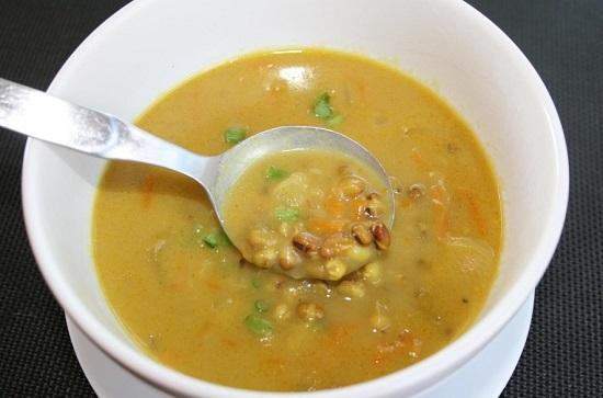 суп с крупой маш