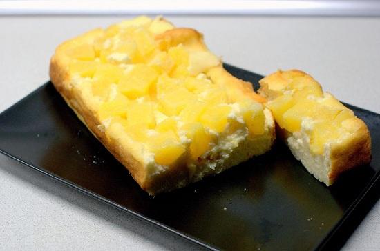 Творожно-ананасовый десерт