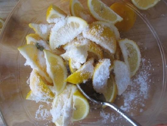 лимонные кусочки