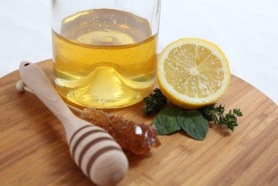 оливковое масло, мед и лимон