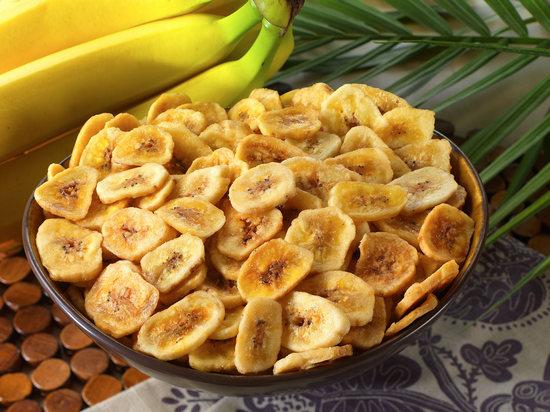 польза банановых чипсов