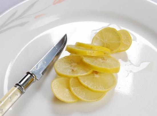 приготовлении лимона с сахарным песком