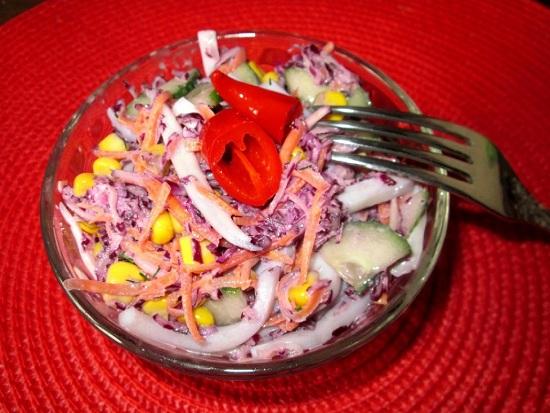 салат из капусты краснокочанного сорта