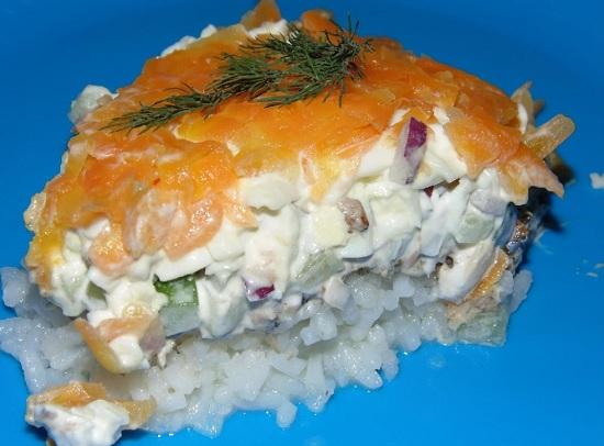 салатик из сайры